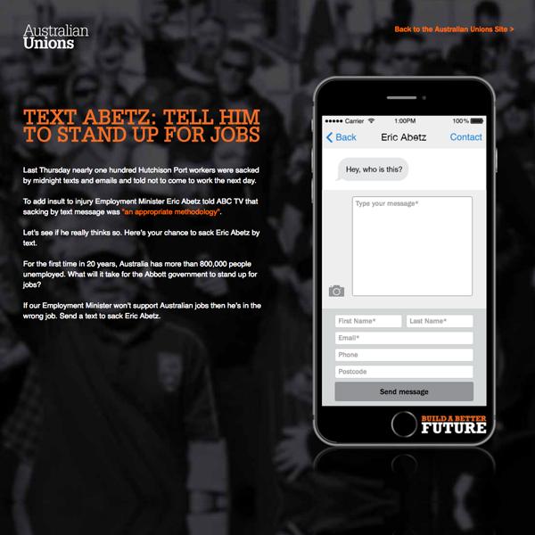 ACTU: Text Abetz