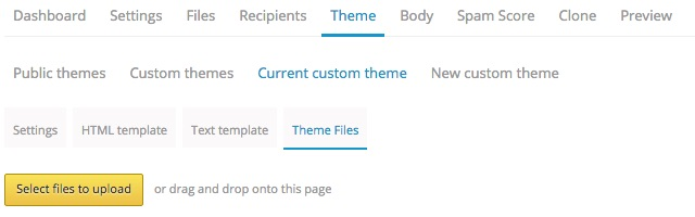 where to add email theme files