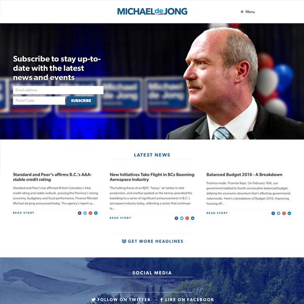 Michael De Jong, BC MLA