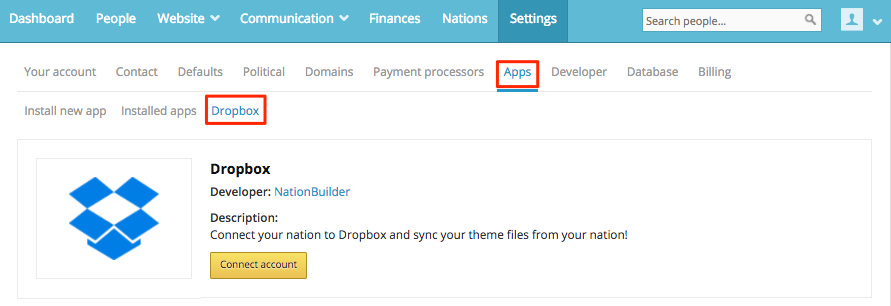 Sync your nation's themes with Dropbox - NationBuilder