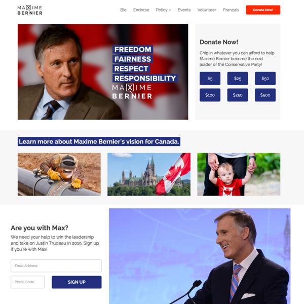 Maxime Bernier Leadership Campaign