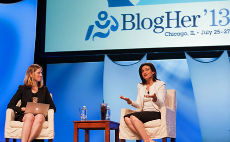 Sheryl Sandberg with Lisa Stone BlogHer '13 Image: Danielle Tsi Photography