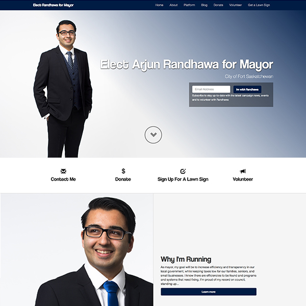 Mayoral Campaign Site