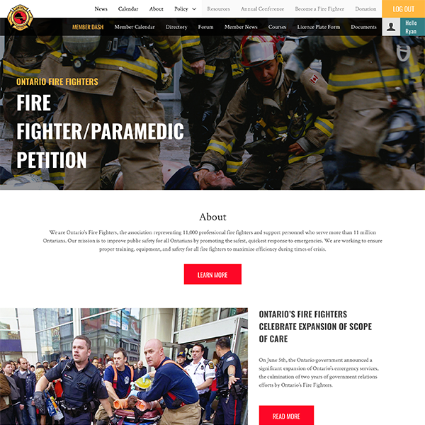 Ontario's Firefighters
