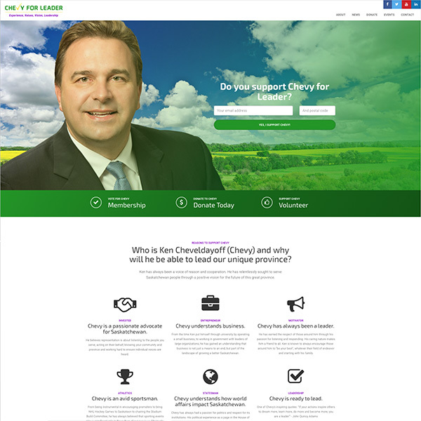 Ken Cheveldayoff MLA Campaign Site for Party Leadership