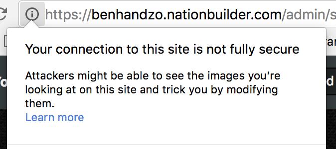 Chrome content warning screenshot