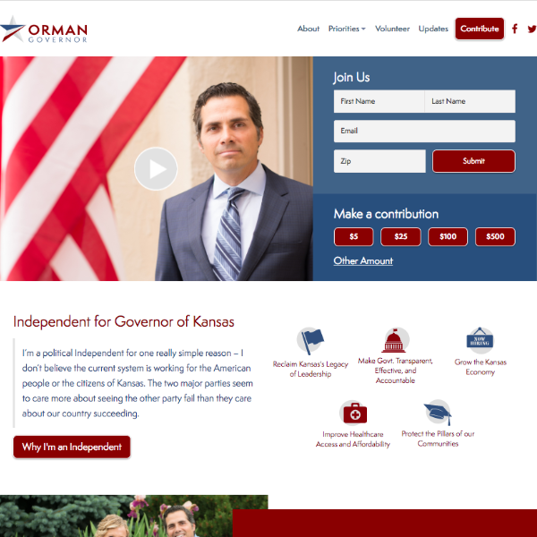 Greg Orman for Governor