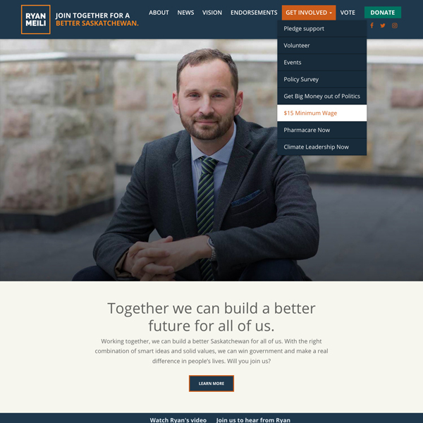 Ryan Meili for SasK NDP Leader