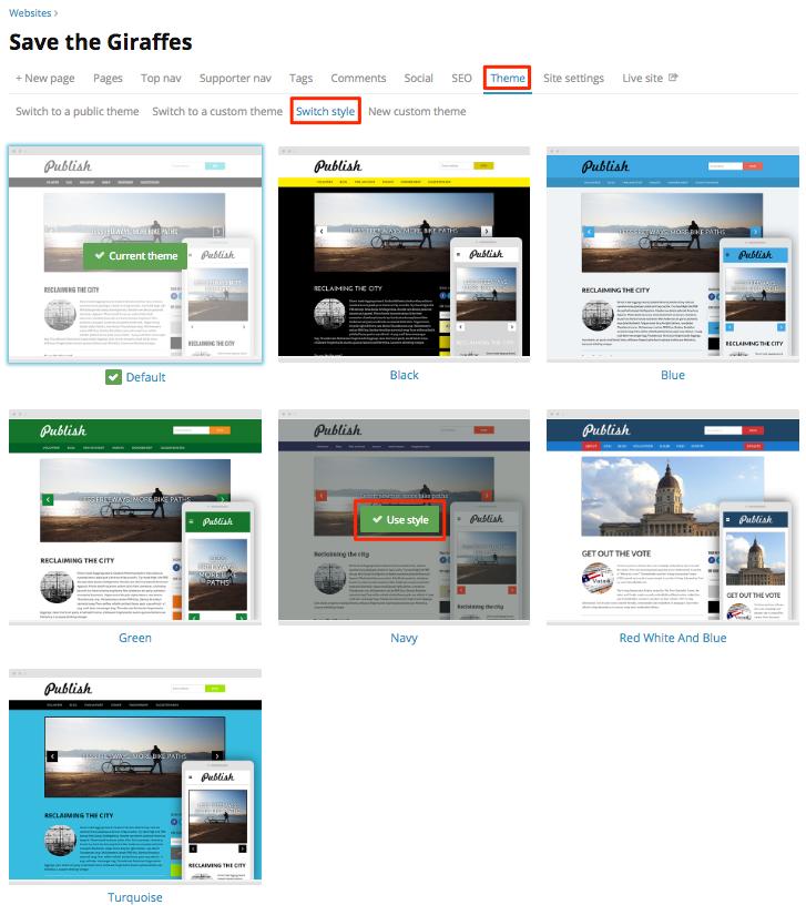 Set up your website for success - NationBuilder