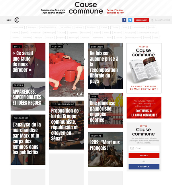 Cause commune - Website d'une revue