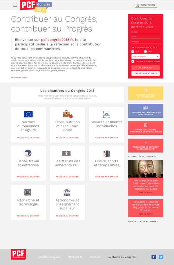 Congrès PCF '18 - site participatif