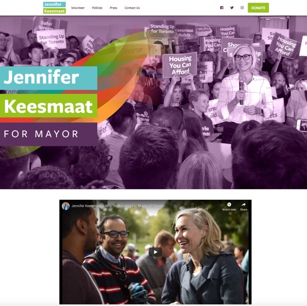 Jennifer Keesmaat for Toronto Mayor