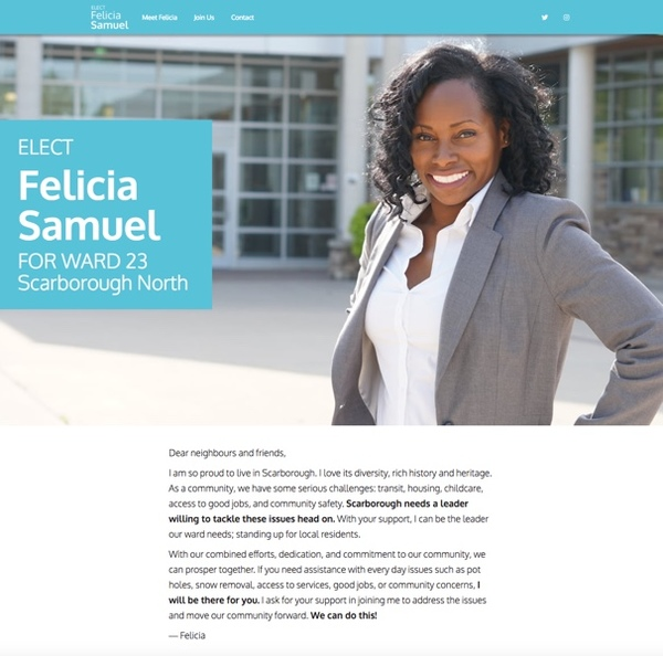 Felicia Samuel for Ward 23