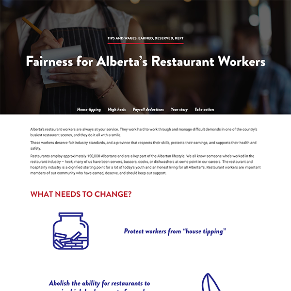 Fairness for AB's Restaurant Worker