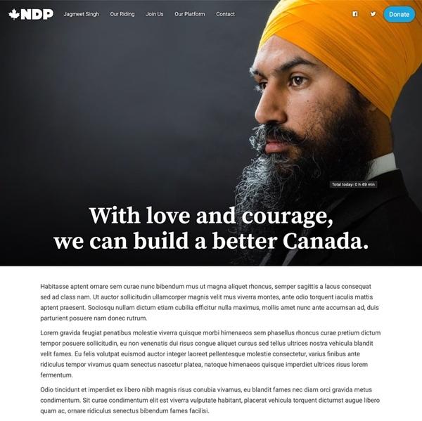 Canada NDP Demo Site