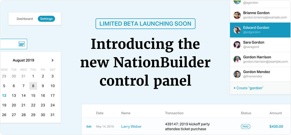 Introducing the new NationBuilder control panel