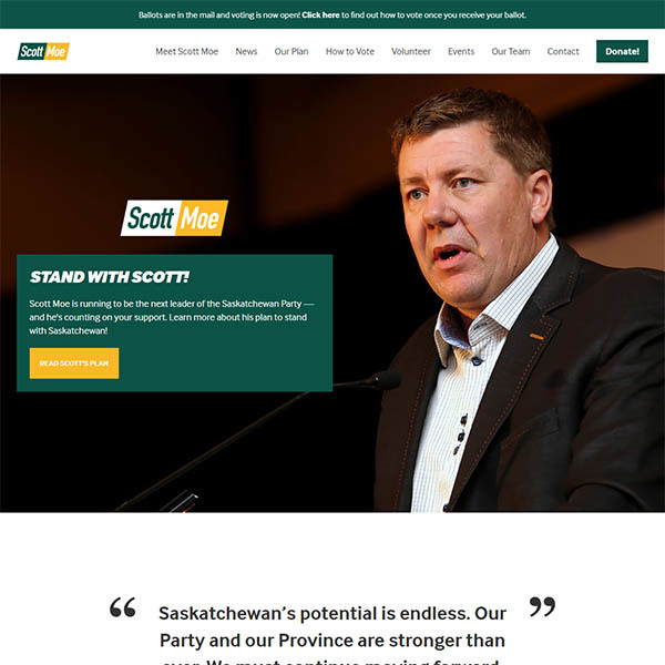 Scott Moe for SaskParty Leader