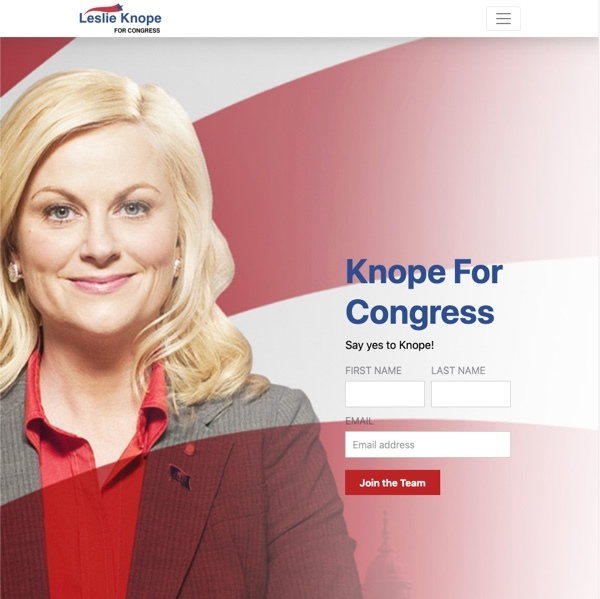 Leslie Knope for Congress