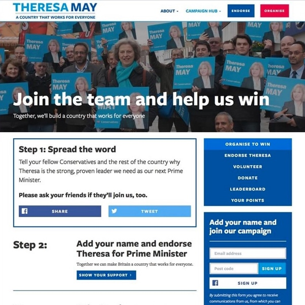 Theresa May for UK Prime Minister