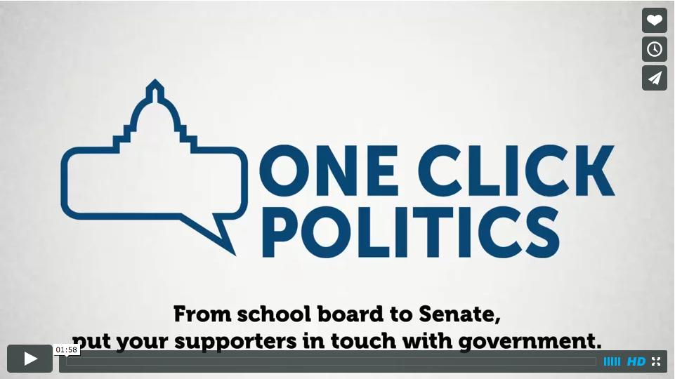 One Click Politics video link