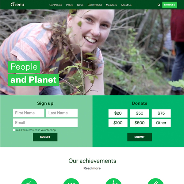 Greens  NZ – Main site