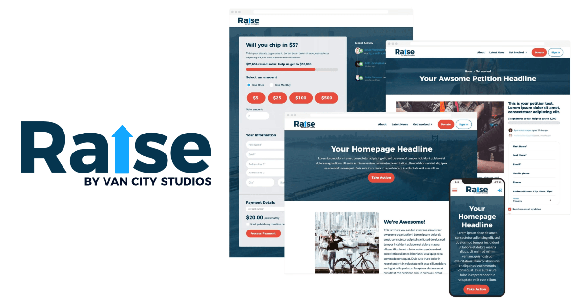 Introducing Raise, a new website theme for NationBuilder