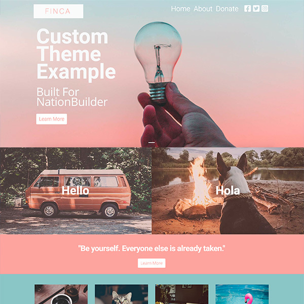 Finca - Custom Theme Example