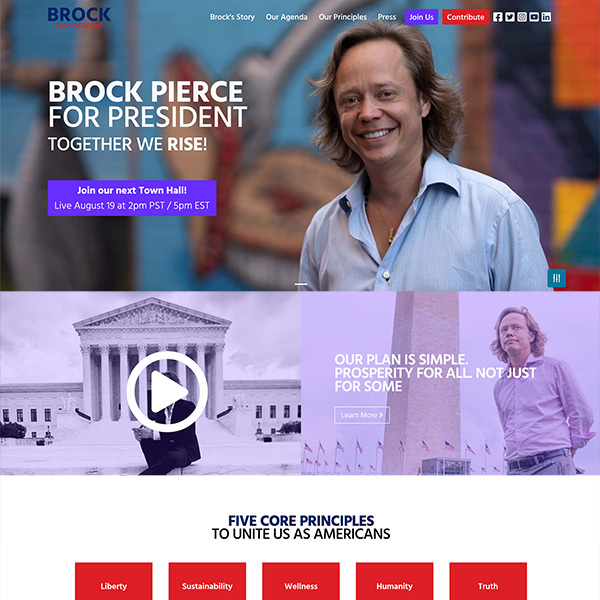 Brock Pierce for President
