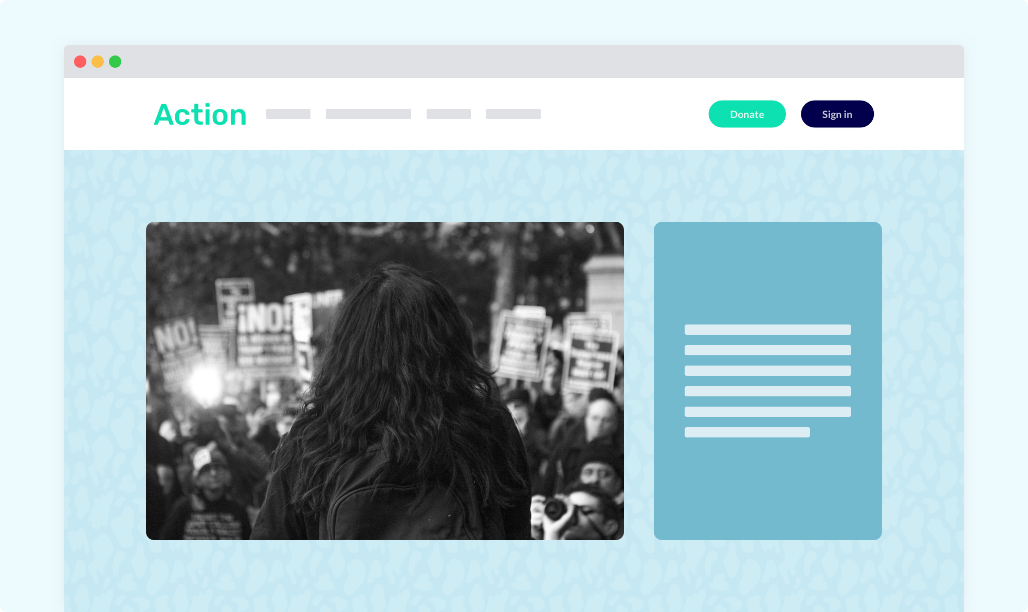 Tell your nonprofit's story with an action-focused website
