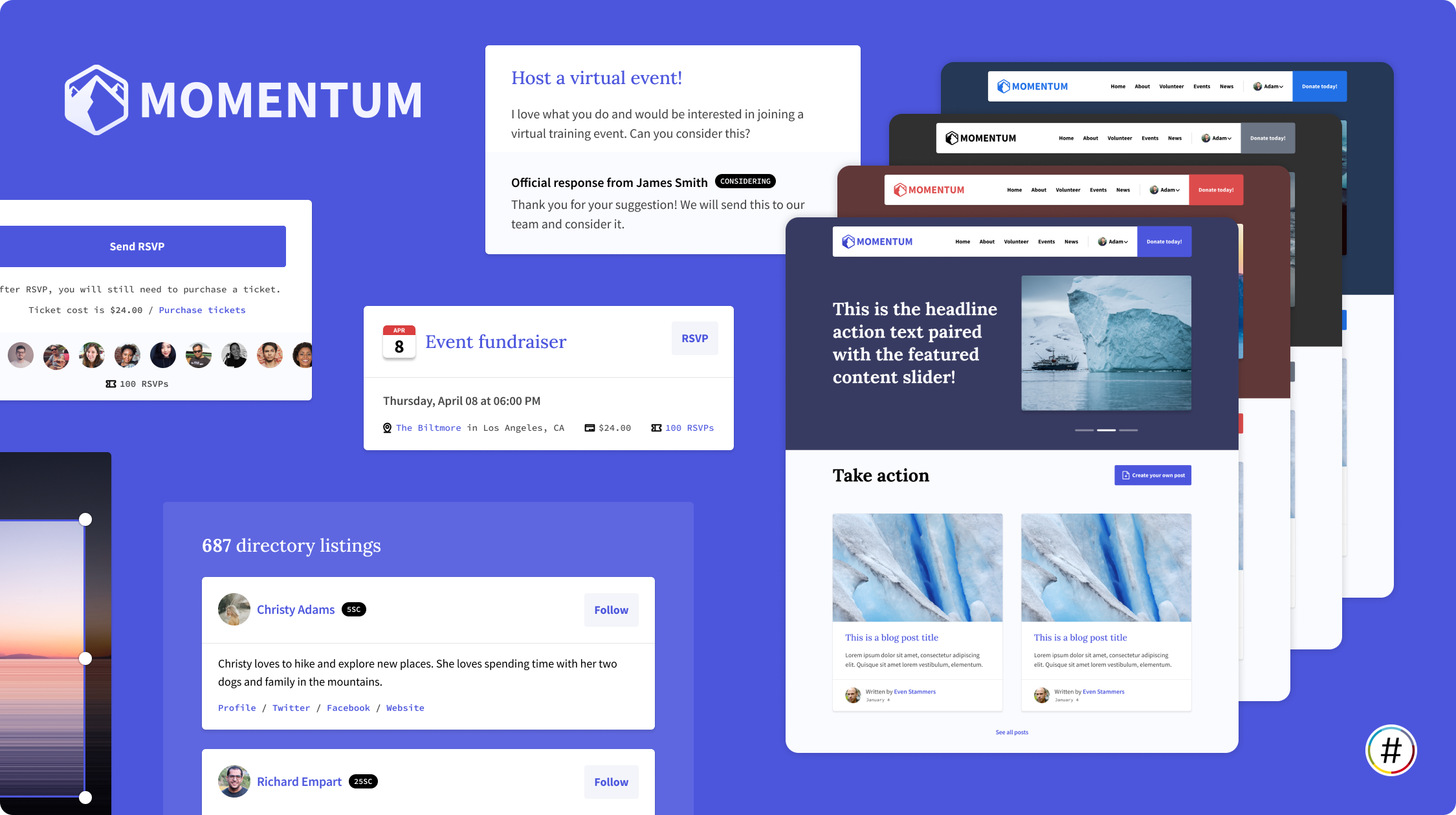 Introducing Momentum, a new multilingual theme for NationBuilder