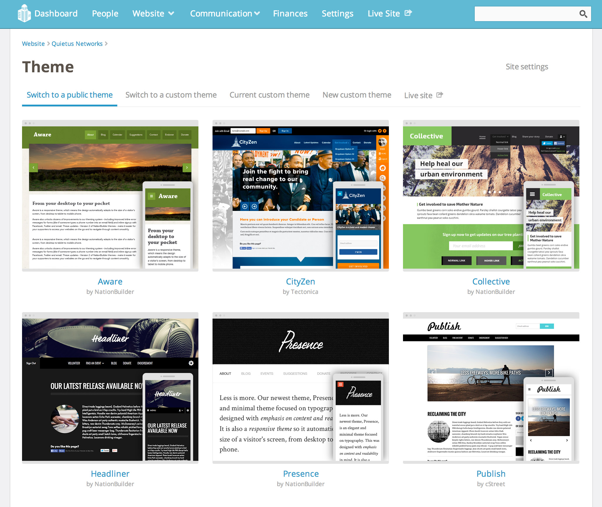 how to create a website theme