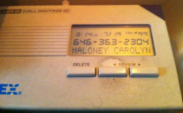Caller ID of Maloney