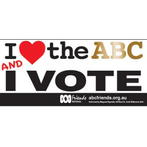 ABC Bumper Sticker 210x99mm Love ABCvs2