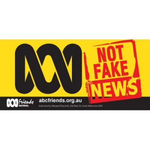ABC Bumper Sticker 210x99mm Not Fake news