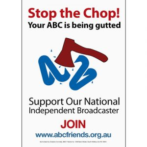 ABCF Poster - Stop the chop A4