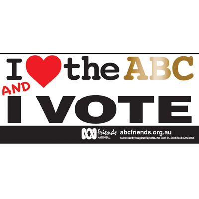 ABC Bumper Sticker 210x99mm Love ABCvs2