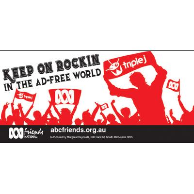 ABC Bumper Sticker 210x99mm Keep on rockin_vs2