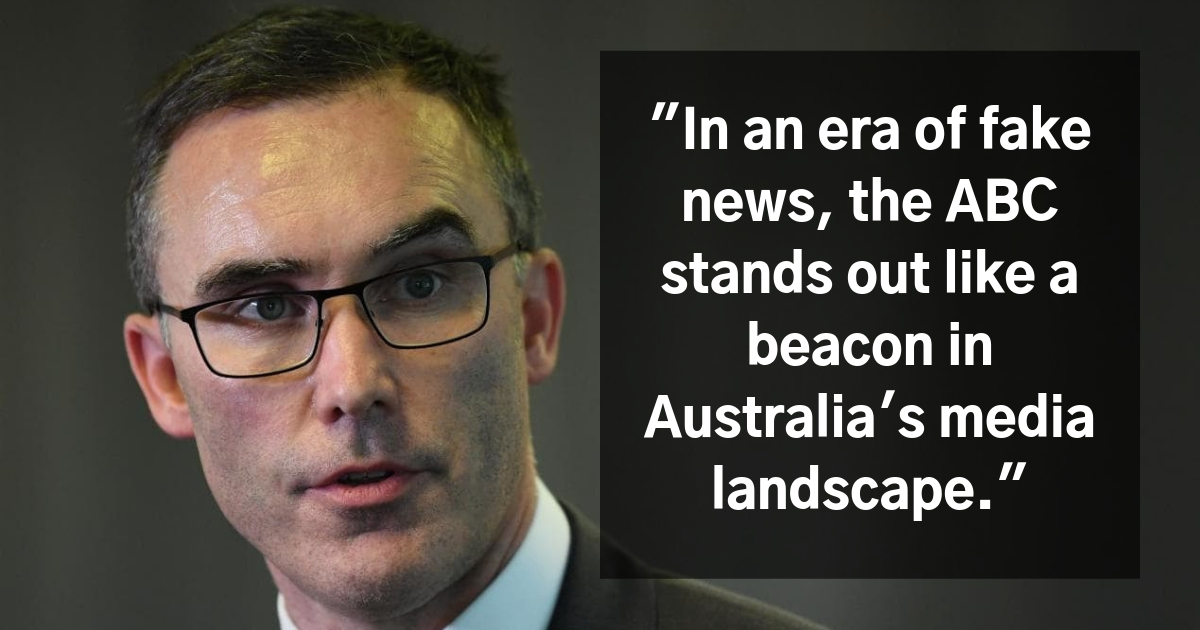 Senator Tim Storer said, In an era of fake news, the ABC stands out like a beacon in Australia's media landscape.