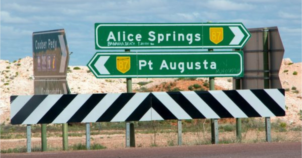 Halfway between Alice Springs and Port Augusta