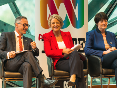 Richard Di Natale and Kristina Keneally were on the panel