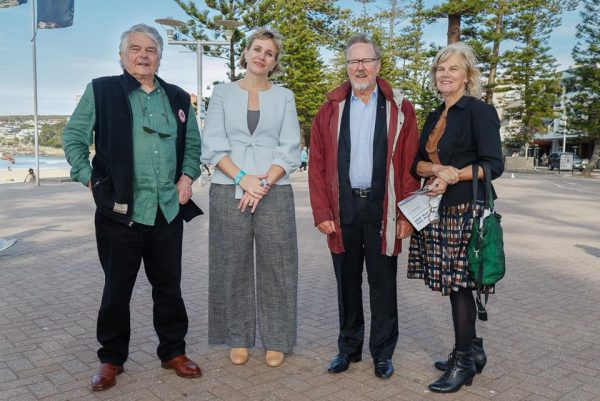 Left to Right - ABC Alumnist John Highfield, Zali Steggall, Quentin Dempster, Jane Singleton - Photography by Kate Zarifeh