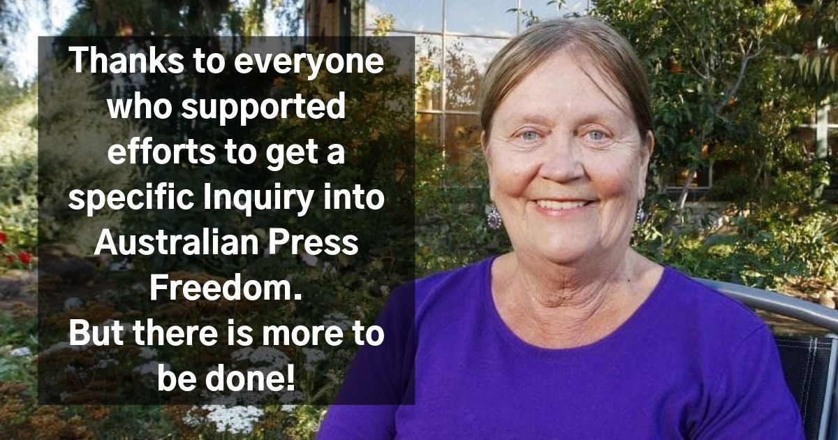Thanks to everyone who supported efforts to get a specific Inquiry into Australian Press Freedom. But there is more to be done!