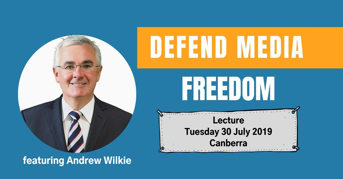 Defend Media Freedom Lecture details