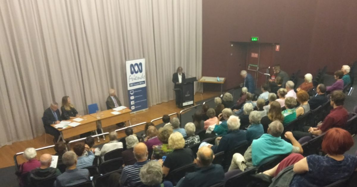 ABC Friends WA held a public forum titled: Freedom of the Press? Photo credit: Elizabeth Long
