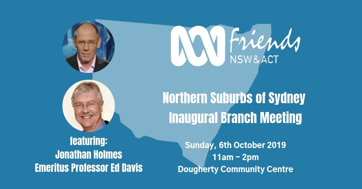 Northern Suburbs of Sydney ABC Friends