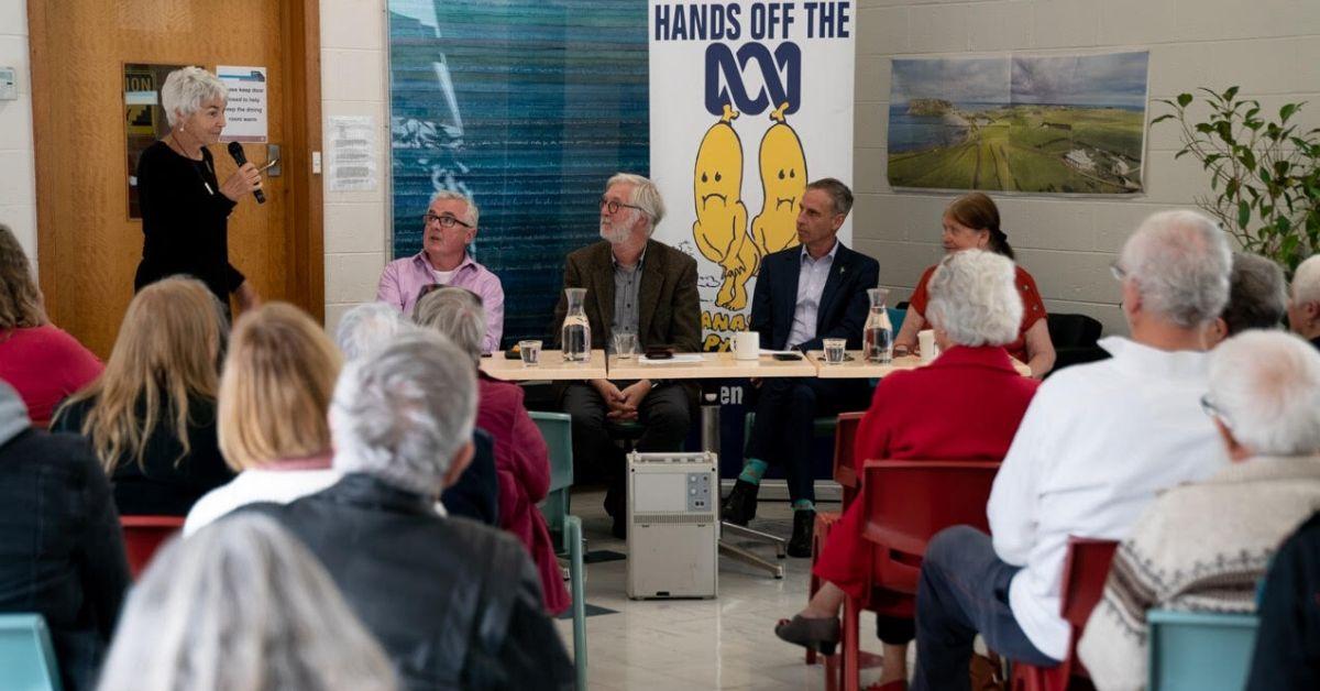 Incoming Vice-President of ABC Friends Tasmania,Peta Fitzgibbon, did a wonderful job MCing the forum. Photo by Lara van Raay