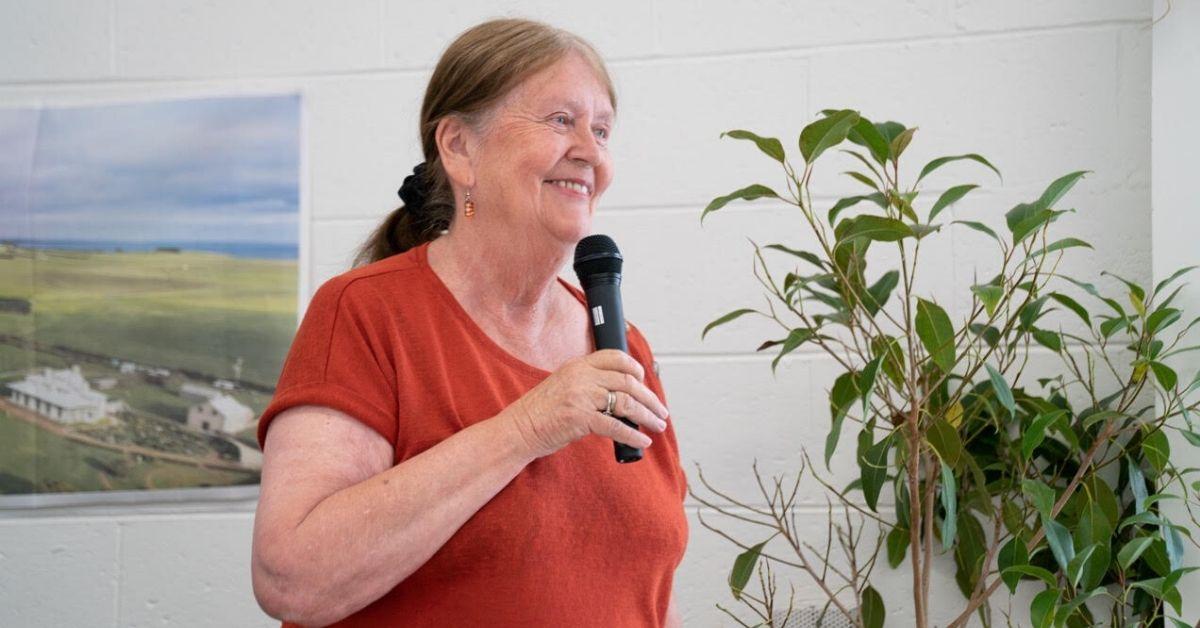 ABC Friends National President, Margaret Reynolds, celebrated Tasmania's history of defending media freedom. Photo: Lara van Raay