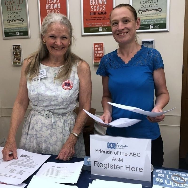 Secretary Angela Williamson & Membership Officer Leighanne Hunt at Registration