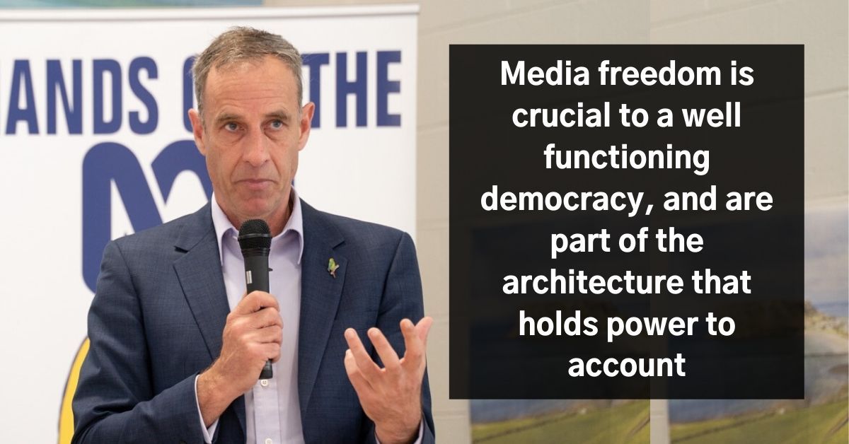 Nick McKim: Media/press freedoms are crucial to a well-functioning democracy and are part of the architecture that holds power to account. Photo: Lara van Raay