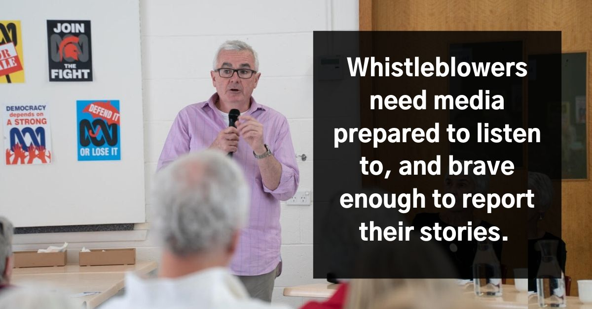 Andrew Wilkie: Whistleblowers need media prepared to listen to, and brave enough to report their stories. They get some degree of protection by the fact of the story being out there. Photo: Lara van Raay